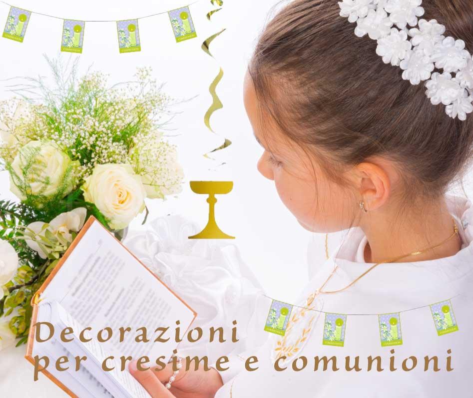 addobbi, festoni e decorazioni cresima e prima comunione