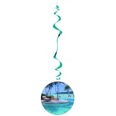 6 festoni da appendere a spirale Hawaii