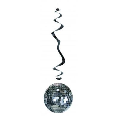6 festoni da appendere a spirale palla da discoteca