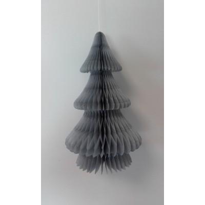 Albero di Natale grigio a nido d'ape