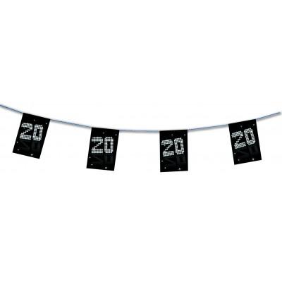 Bandierine compleanno 20 anni VIP