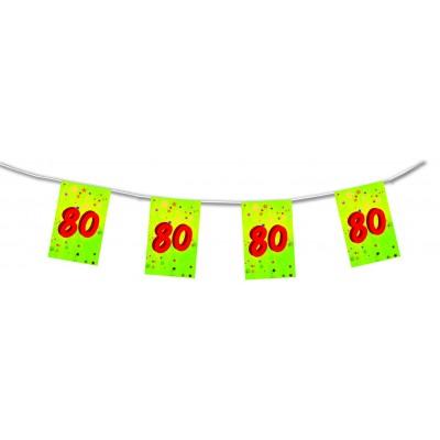Bandierine compleanno 80 anni