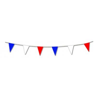 Bandierine triangolari blu bianco rosso