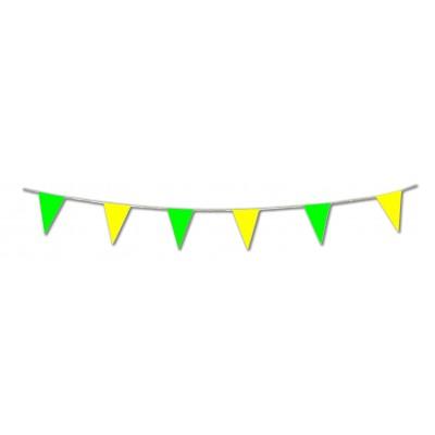 Bandierine triangolari gialle e verdi