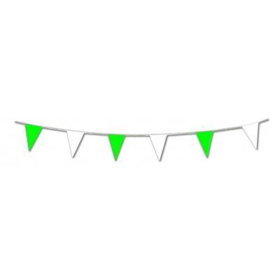 Bandierine triangolari verdi e bianche