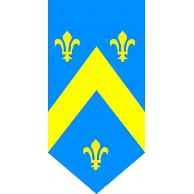Cartonato medievale giallo e blu