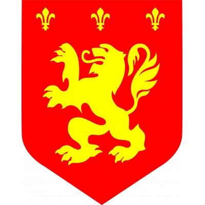 Cartonato medievale leone giallorosso