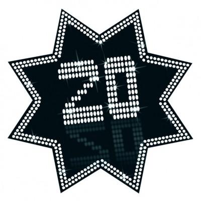 Cartonato stella 20 anni