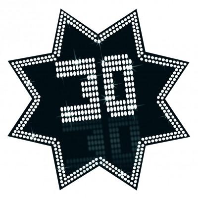 Cartonato stella 30 anni