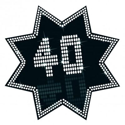 Cartonato stella 40 anni