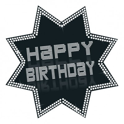 Cartonato stella Happy Birthday