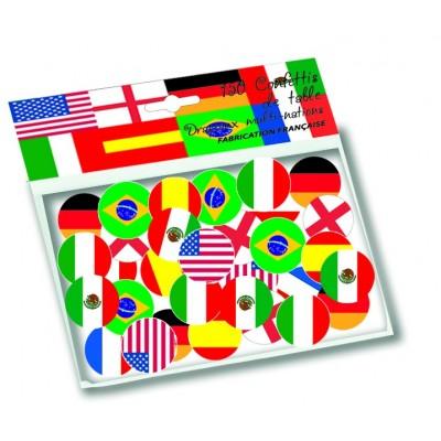 Coriandoli bandiere del Mondo
