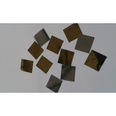 Coriandoli metallizzati quadrati 30x30 mm