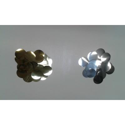 Coriandoli metallizzati tondi 25 mm