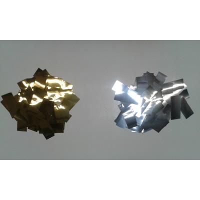 Coriandoli rettangolari metallizzati 2x5 cm