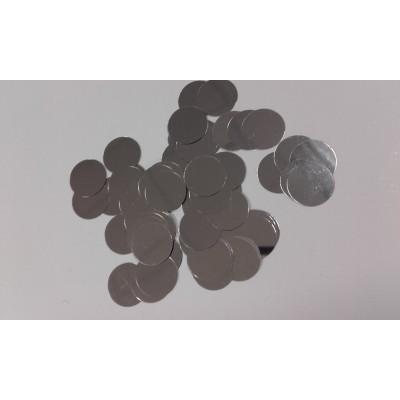 Coriandoli rotondi argentati glitter da 25 mm