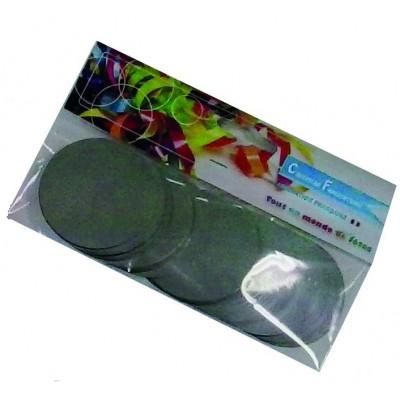 Coriandoli rotondi argentati metallici da 55 mm