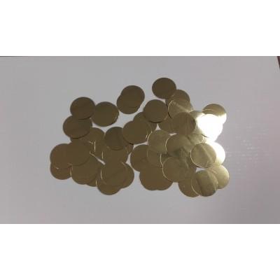 Coriandoli rotondi dorati glitter da 25 mm
