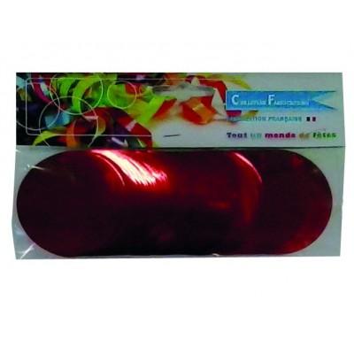 Coriandoli rotondi rossi metallici da 55 mm
