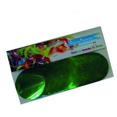 Coriandoli rotondi verdi metallici da 55 mm