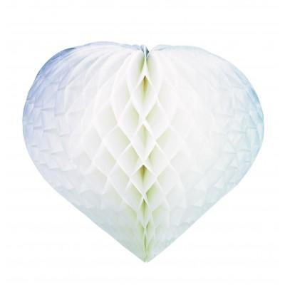 Decorazione cuore bianco da 30 cm