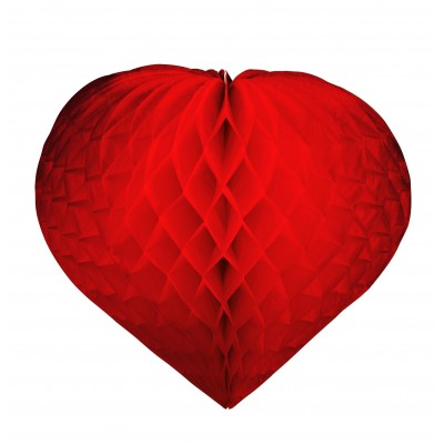 Decorazione cuore rosso da 30 cm