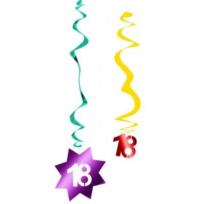 Decorazione pendente a spirale compleanno 18 anni