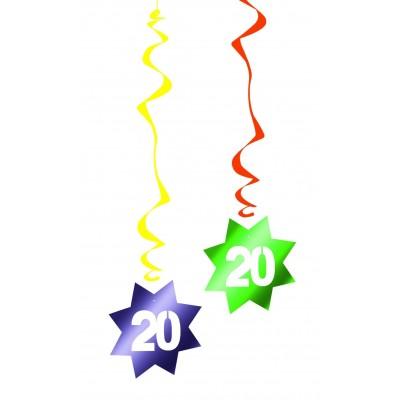 Decorazione pendente a spirale compleanno 20 anni