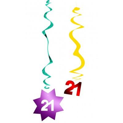 Decorazione pendente a spirale compleanno 21 anni