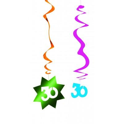Decorazione pendente a spirale compleanno 30 anni