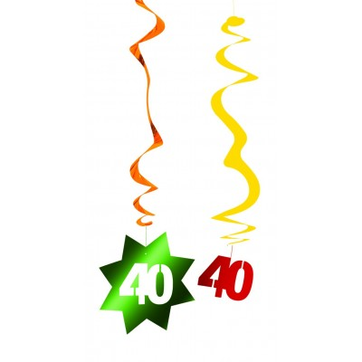 Decorazione pendente a spirale compleanno 40 anni