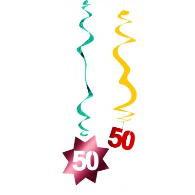 Decorazione pendente a spirale compleanno 50 anni