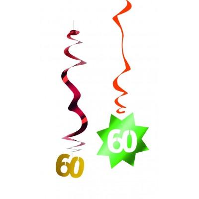 Decorazione pendente a spirale compleanno 60 anni