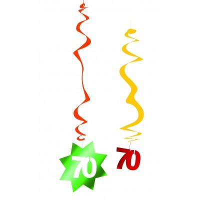 Decorazione pendente a spirale compleanno 70 anni