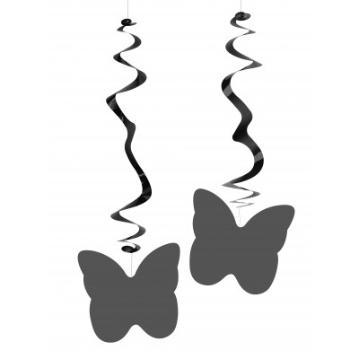 Farfalle argentate confezione da 6