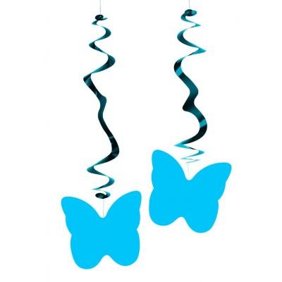 Farfalle blu cobalto confezione da 6