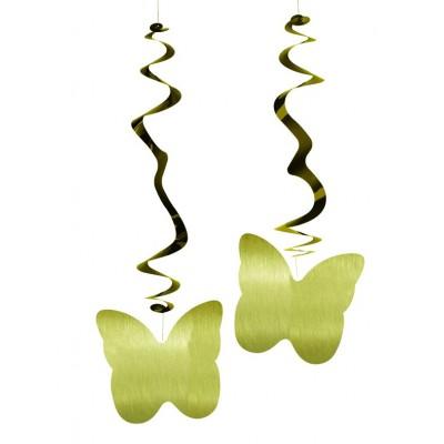 Farfalle dorate confezione da 6