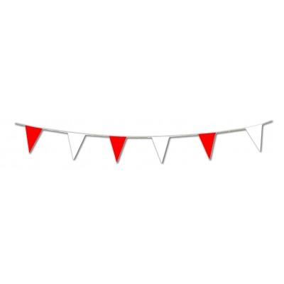 Festone bandierine rosse e bianche
