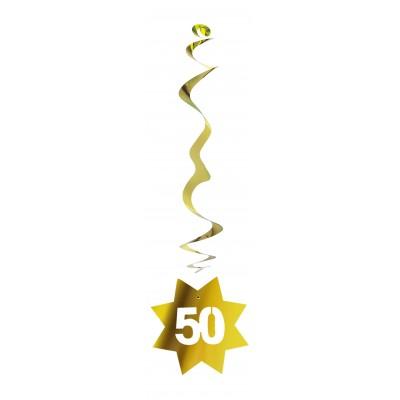 Festone pendente dorato anniversario 50 anni matrimonio
