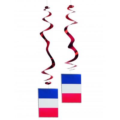 6 festoni pendenti a spirale Francia
