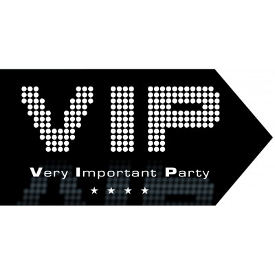 Freccia VIP per compleanno 20x40 cm