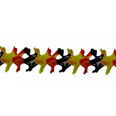 Festone a nido d ape giallo rosso e nero