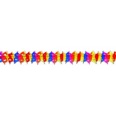 Festone multicolore a nido di ape