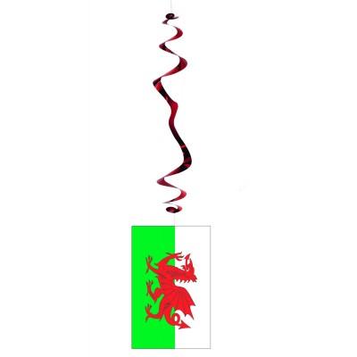 6 decorazioni da appendere a spirale Galles