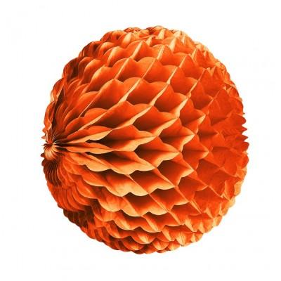 Pallina a nido di ape arancione 25 cm
