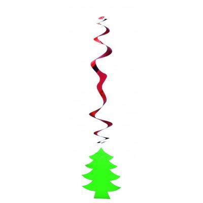 Pendente a spirale con albero Natale
