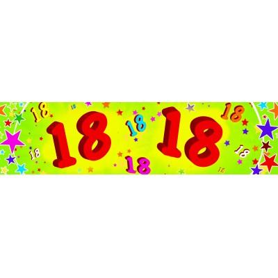Striscione compleanno 18 anni