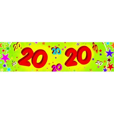 Striscione compleanno 20 anni