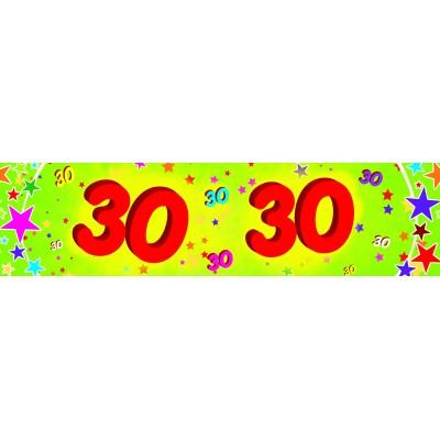 Striscione compleanno 30 anni