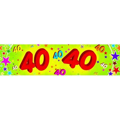 Striscione compleanno 40 anni